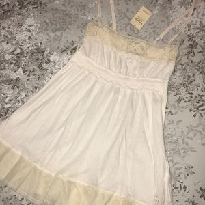 NWT XS Abercrombie & Fitch babydoll lace tank top
